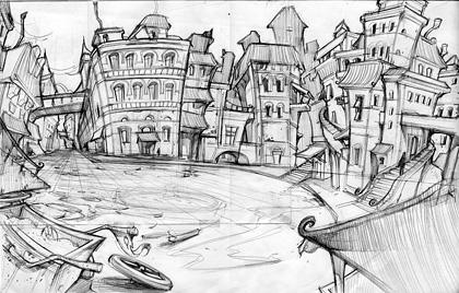 Drawn Game Concept Sketch 1