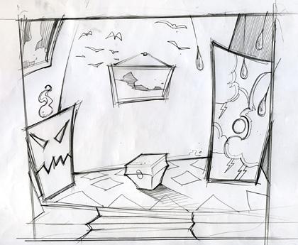 Drawn Game Concept Sketch 3