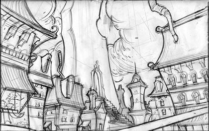 Drawn Game Concept Sketch 5