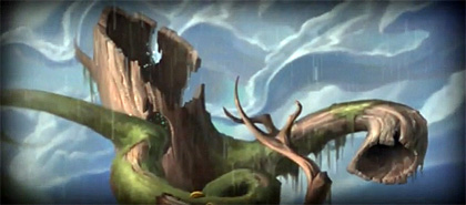 The Giant Tree Screenshot from Drawn: The Painted Tower Sizzle Reel