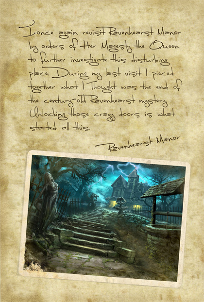 Return to Ravenhearst Lost Journal - Page 1