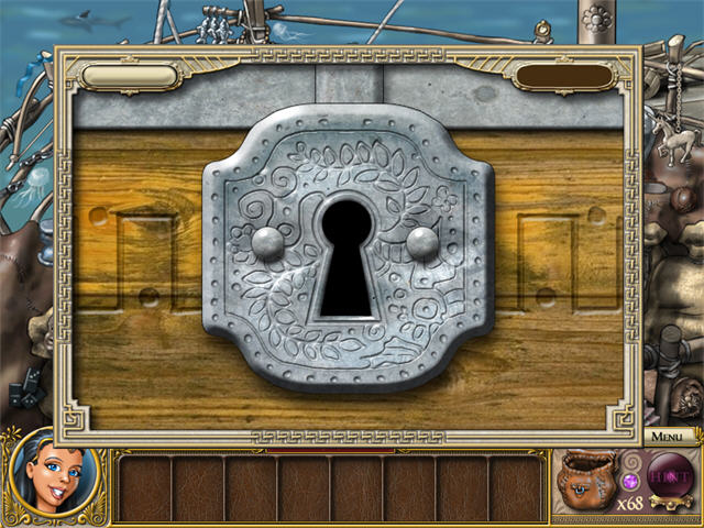 Ancient Adventures Gift Of Zeus Walkthrough Guide Tips Fish Wooden Chest With Lock Treasure