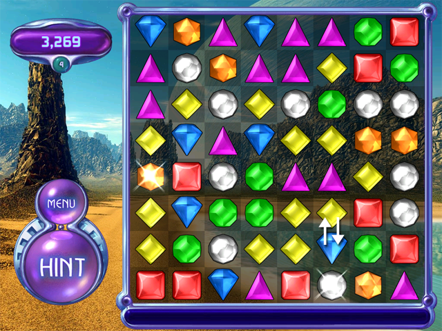 Bejeweled 2 Bottom Up Strategy