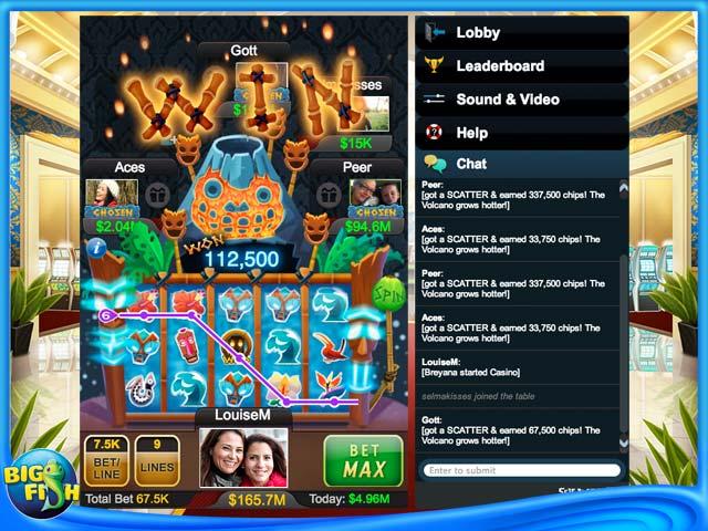 bigfish casino écran de machine à sous