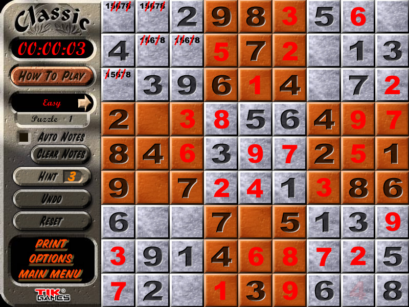 Sudoku Puzzle Solution - Penciling In 2