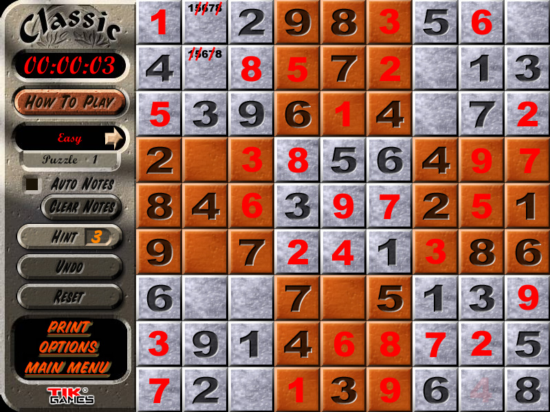 Sudoku Puzzle Solution - Penciling In 4