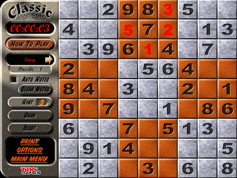 Sudoku Puzzle Solution - Crosshatching 10