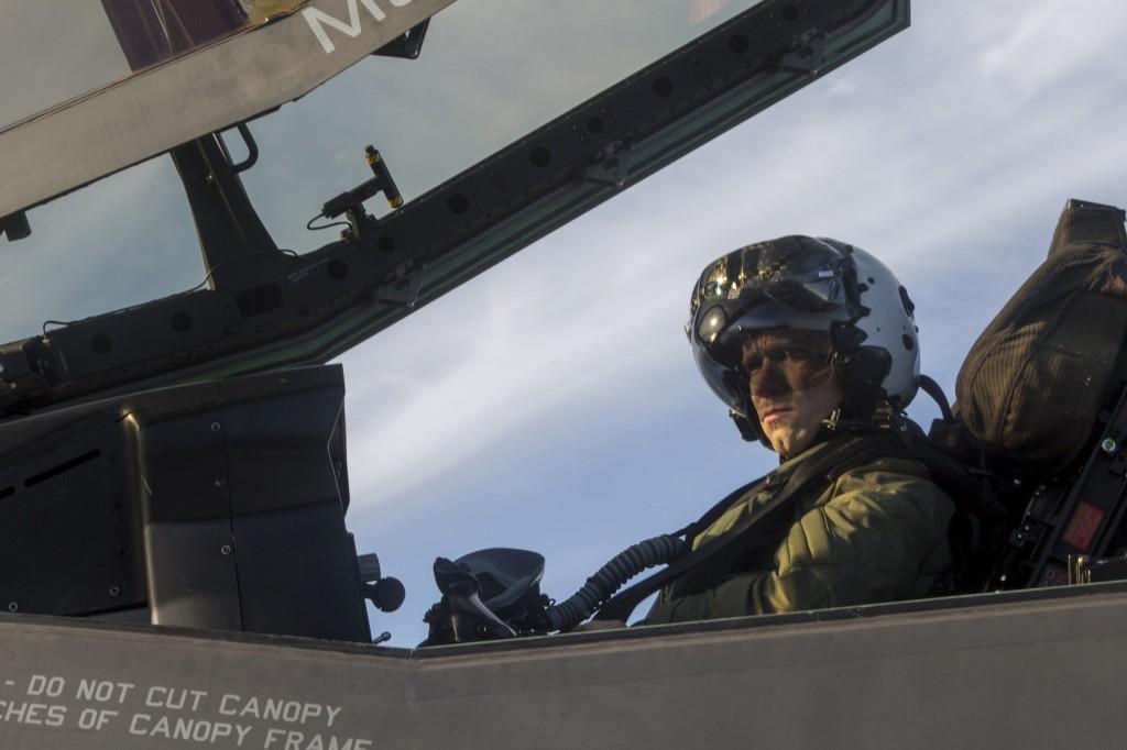 Navy photo of F-35 pilot