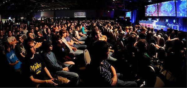 Pro gaming crowd