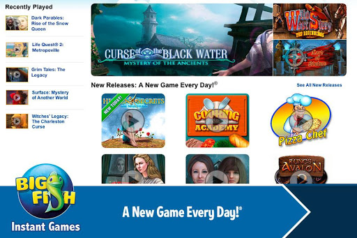 Big Fish Instant Games App for Android