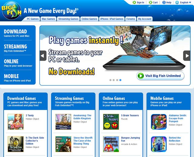 New Big Fish Homepage