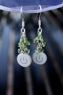 Power Button Earrings