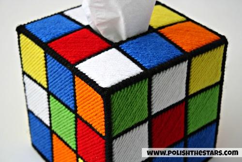 Rubik's Cube Tissue Box