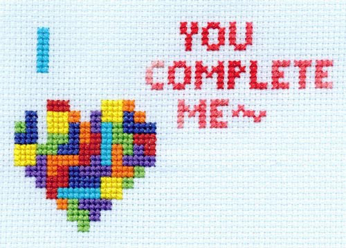 You Complete Me Cross Stitch