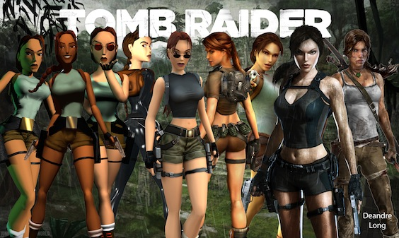 Lara Croft through the ages