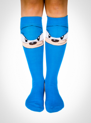 Sonic the Hedgehog Socks front