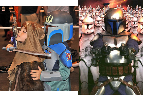 Jango Fett and Ewok Kid Costume