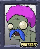 Potrait of a zombie from Plants vs Zombie