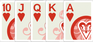 Straight Flush (This example is a Royal Flush, more specifically)