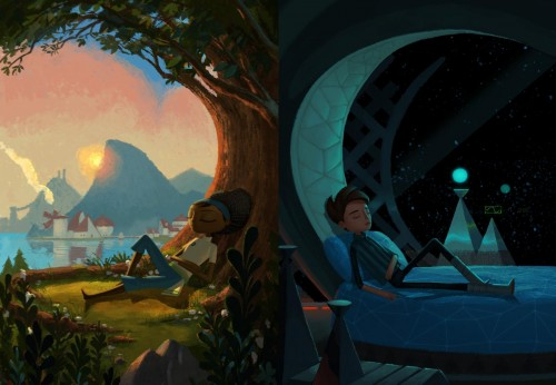 Broken Age kids sleeping