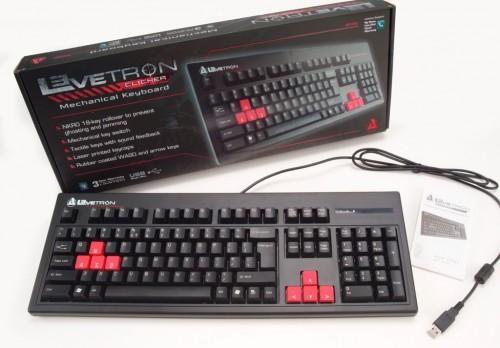 Azio Levetron gaming keyboard with box