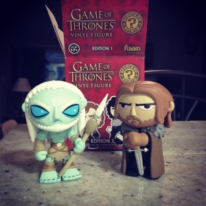 Game of Thrones Blind Box Mystery Minis: Whitewalker and Ned