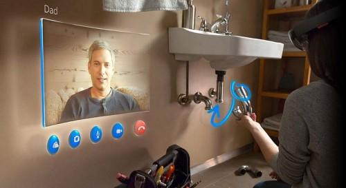 Microsoft HoloLens demos a remote plumbing repair