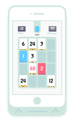Threes_video_game_on_phone