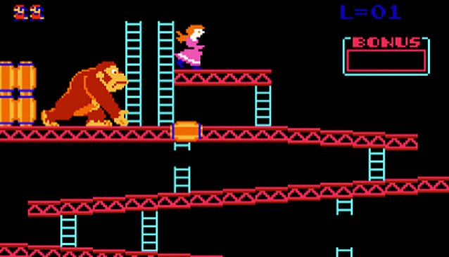 Donkey Kong is one of the games that has been featured in World Record tournament play at Funspot. Image courtesy of Wii Daily.