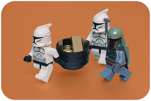 Gold reward Star Wars Legos