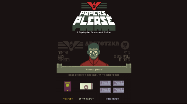 Papers Please Game