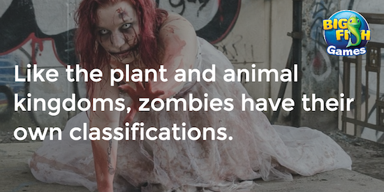 Zombie classifications