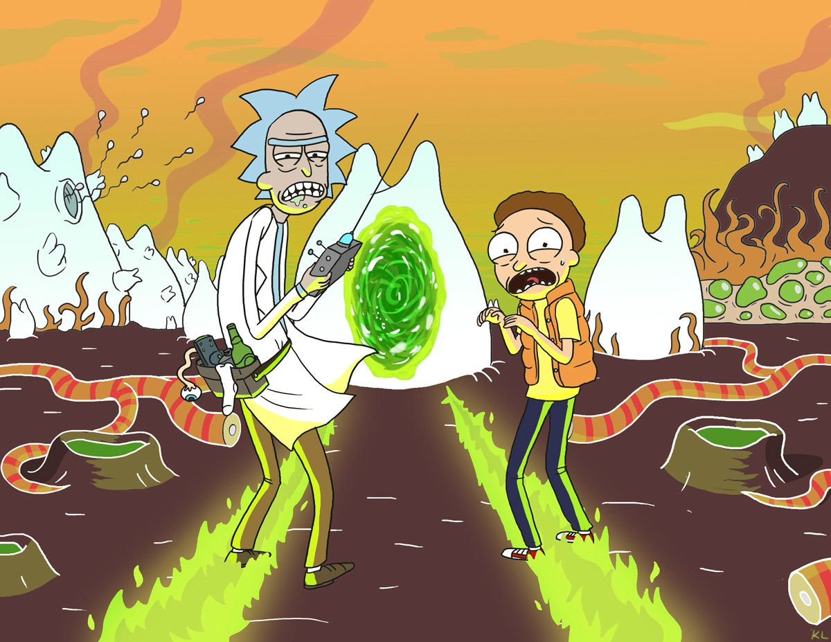 Rick and Morty Madly Sciencing