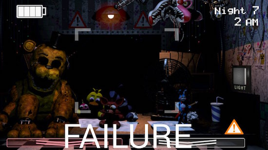 Copie d'écran de Five Nights at Freddy's