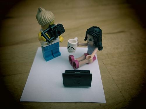 Lego woman programmer
