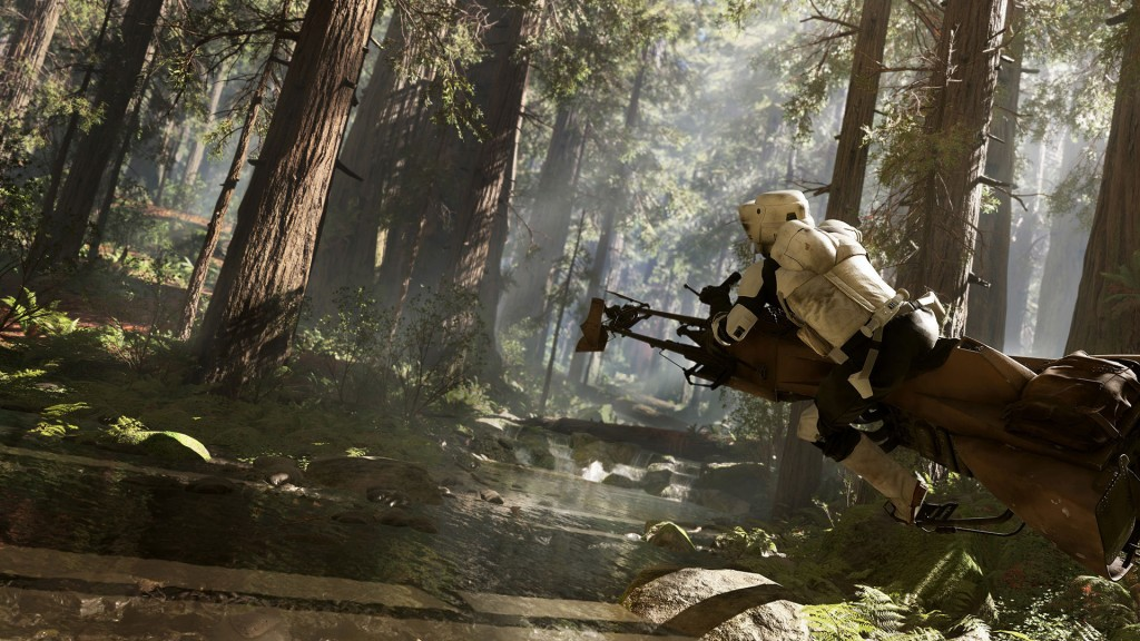 Endor gameplay in Star Wars Battlefront. Screenshot image via gearnuke.com