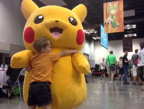 A hug for Pikachu