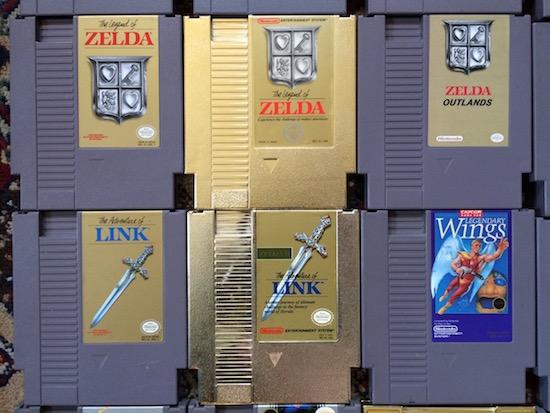 Legend of Zelda NES cartridges