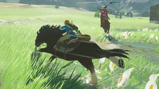 Breath of the Wild creative battle on horseback