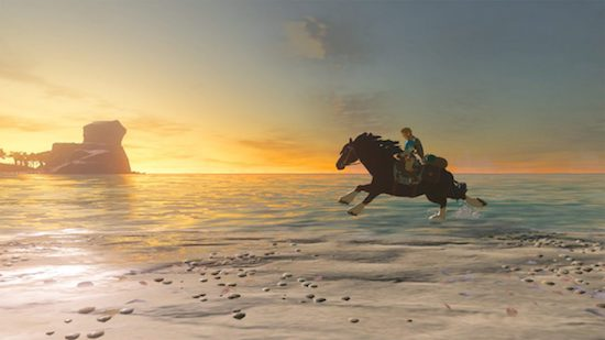 Zelda: Breath of the Wild horseback ride along the beach
